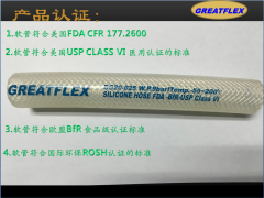 High-temperature high-pressure fiber braided pharmaceutical-grade silicone hose